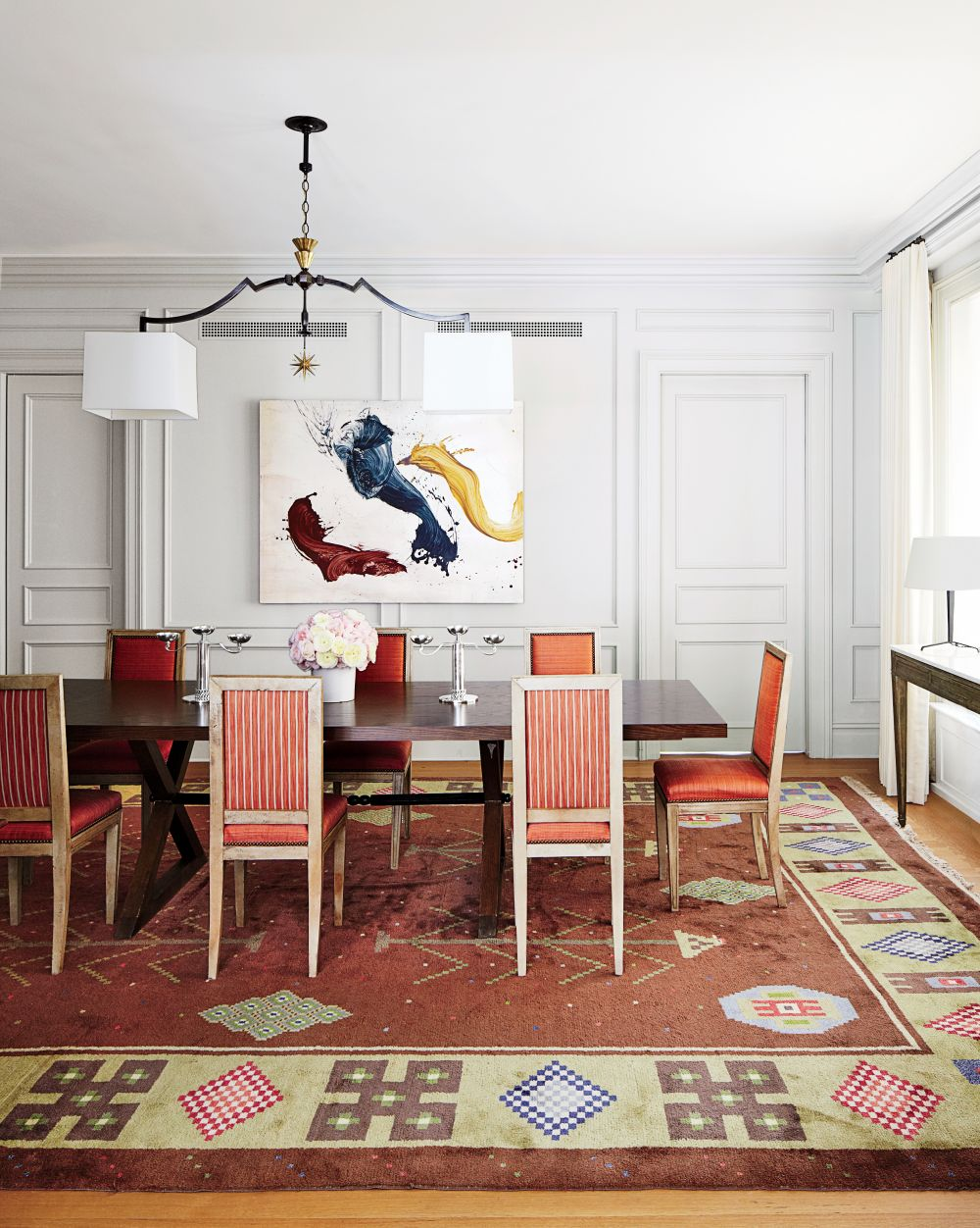 Traditional dining room by aparicio associates by for New traditional dining room
