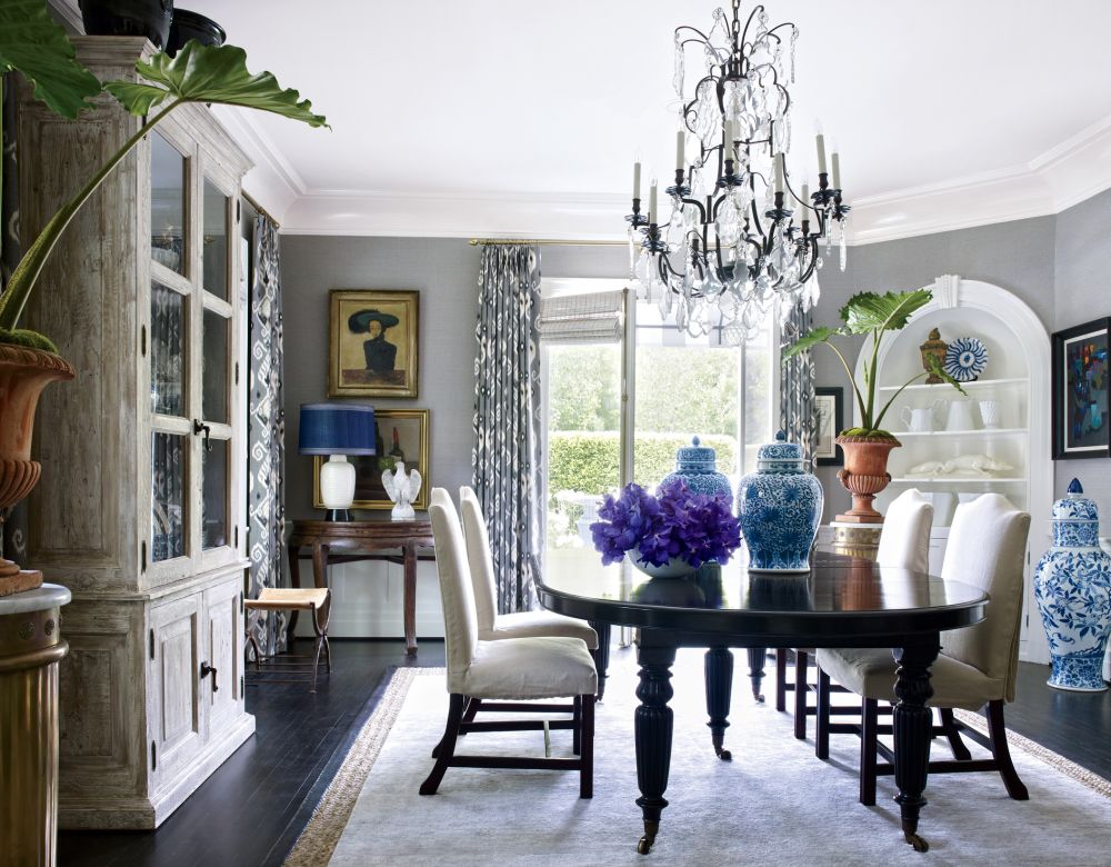 Traditional dining room by dave demattei and patrick wade for Home decor los angeles