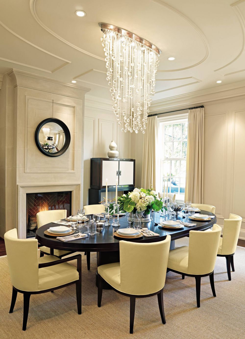 Traditional dining room by powell bonnell by for Traditional dining room design