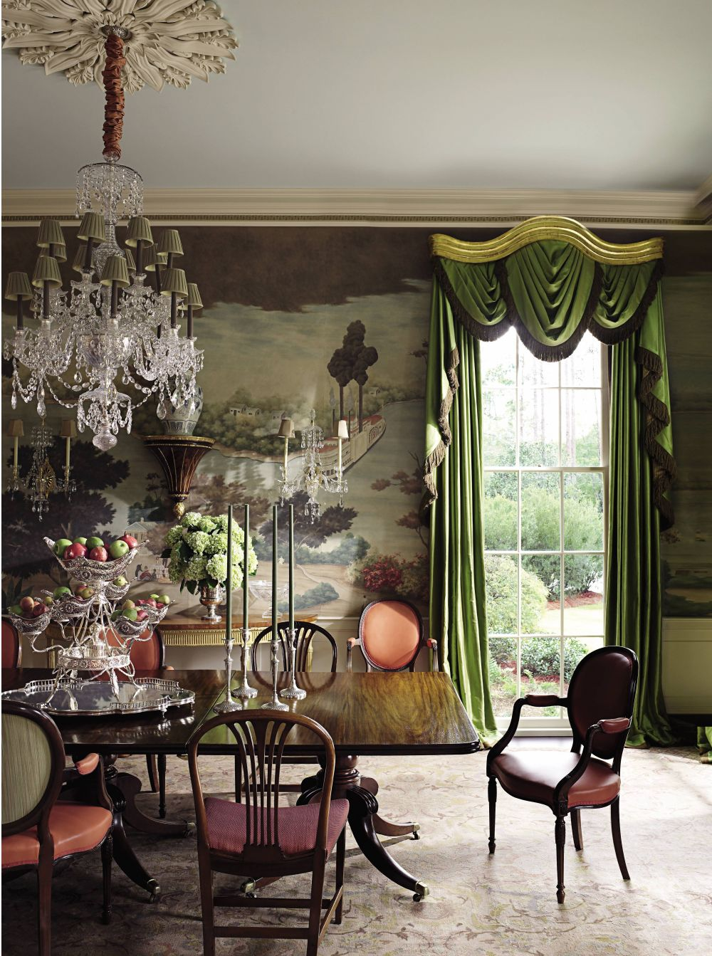 Traditional Dining Room By Richard Keith Langham Inc By Architectural Digest Ad Designfile