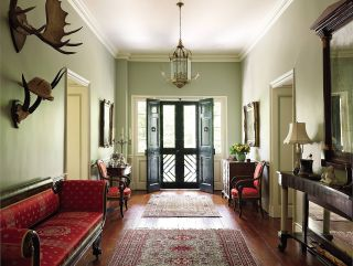 Traditional Entrance Hall by Alison Martin Interiors Ltd. and Jean Perin Interior Design in Virginia