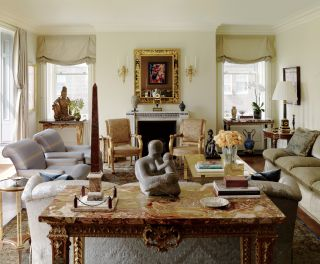 Traditional Living Room by Michael S. Smith Inc. and Peter Pennoyer Architects in New York, New York