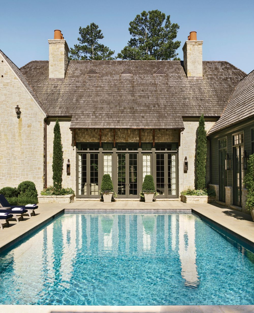 Traditional pool by suzanne kasler interiors by for Home designers in atlanta ga